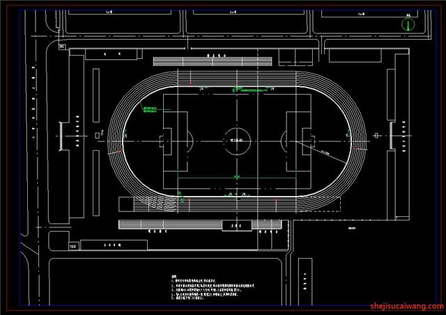 运动场CAD平面详图4