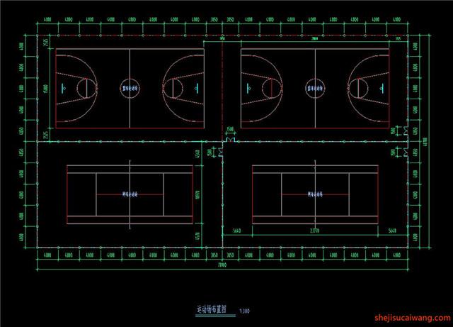 运动场CAD平面详图5