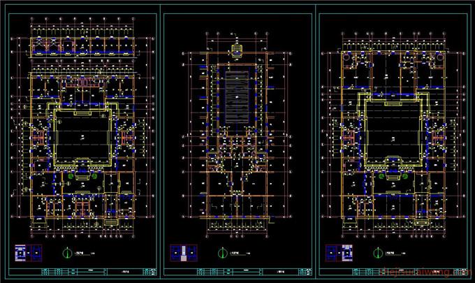 中式四合院全套CAD图纸1
