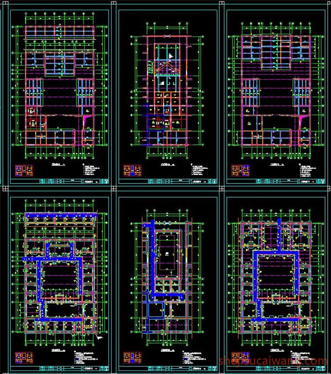 中式四合院全套CAD图纸2