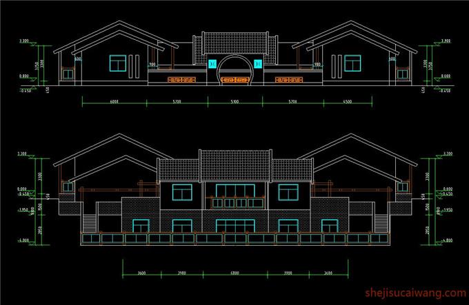 四合院别墅CAD2